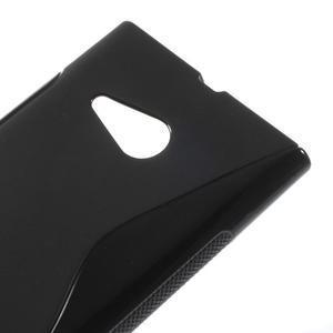 Gelový s-line obal na Nokia Lumia 730 a Lumia 735 - černý - 3