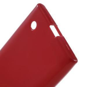 Gelový obal na Nokia Lumia 730 a Lumia 735 - červený - 3