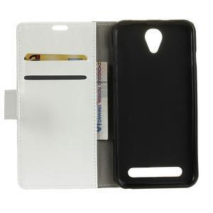 Lethy PU kožené pouzdro na mobil Acer Liquid Z6 - bílé - 3