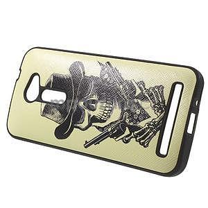 Gelový obal s imitací vroubkované kůže na Asus Zenfone 2 ZE500CL - pistolník - 3