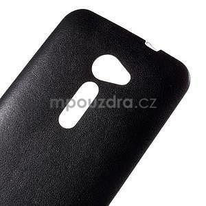 Gelový kryt s imitací kůže Asus Zenfone 2 ZE500CL - černý - 3
