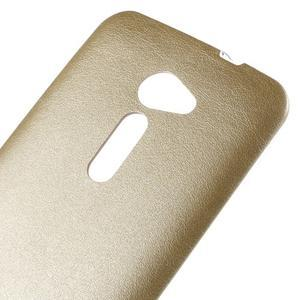 Gelový kryt s imitací kůže Asus Zenfone 2 ZE500CL - champagne - 3