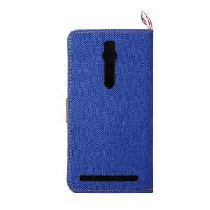 Modré peněženkové PU kožené pouzdro pro Asus Zenfone 2 ZE551ML - 3