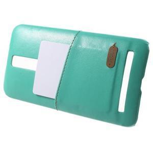Azurový PU kožený/plastový kryt na Asus Zenfone 2 ZE551ML - 3