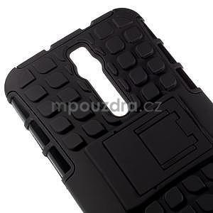 Vysoce odolný gelový kryt se stojánkem pro Asus Zenfone 2 ZE551ML - černý - 3