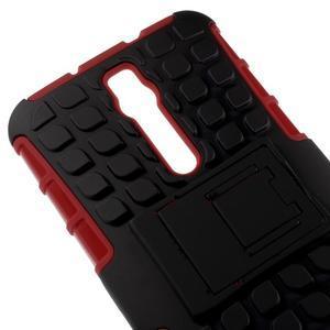 Vysoce odolný gelový kryt se stojánkem pro Asus Zenefone 2 ZE551ML - červený - 3