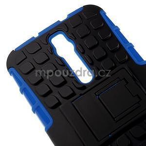 Vysoce odolný gelový kryt se stojánkem pro Asus Zenefone 2 ZE551ML - modrý - 3
