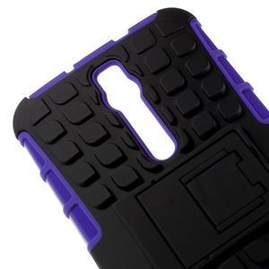 Vysoce odolný gelový kryt se stojánkem pro Asus Zenefone 2 ZE551ML - fialový - 3