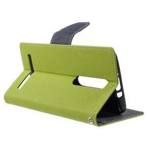 Zapínací PU kožené pouzdro na Asus Zenfone 2 ZE551ML - zelené - 3