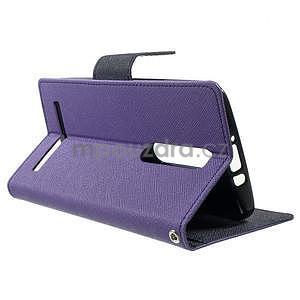 Zapínací PU kožené pouzdro na Asus Zenfone 2 ZE551ML - fialové - 3