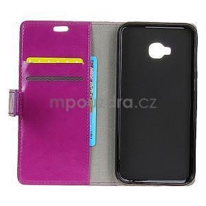 Crazy PU kožené pouzdro na mobil Asus Zenfone 4 Selfie Pro ZD552KL - fialové - 3