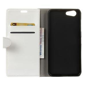 Stay PU kožené pouzdro na mobil HTC Desire 12 - bílé - 3
