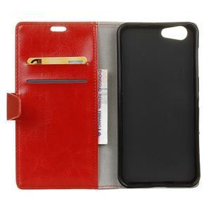 Stay PU kožené pouzdro na mobil HTC Desire 12 - červené - 3