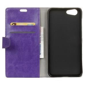 Stay PU kožené pouzdro na mobil HTC Desire 12 - fialové - 3