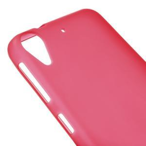 Matný gelový obal na mobil HTC Desire 530 a Desire 630 - červený - 3