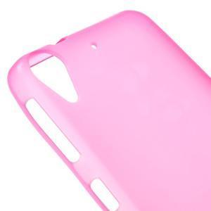 Matný gelový obal na mobil HTC Desire 530 a Desire 630 - rose - 3