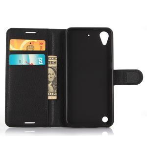 Wally PU kožené pouzdro na mobil HTC Desire 530 a Desire 630 - černé - 3