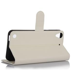 Wally PU kožené pouzdro na mobil HTC Desire 530 a Desire 630 - bílé - 3