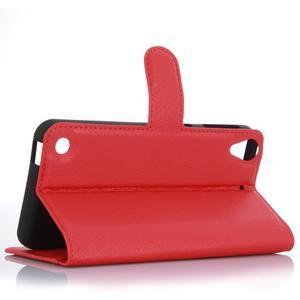 Wally PU kožené pouzdro na mobil HTC Desire 530 a Desire 630 - červené - 3