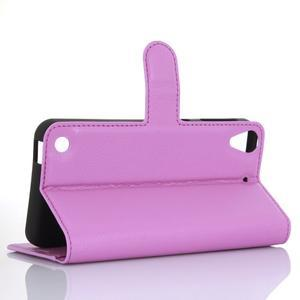 Wally PU kožené pouzdro na mobil HTC Desire 530 a Desire 630 - fialové - 3