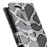 SnakeŠtýle PU kožené peňaženkové puzdro pre HTC One A9s - sivé - 3/7