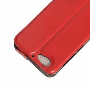 Flipové PU kožené puzdro pre mobil HTC One A9s - červené - 3