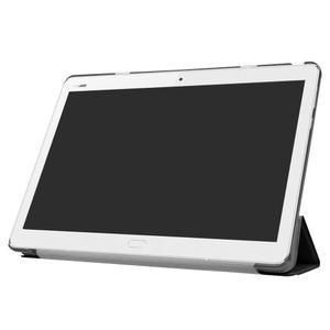 Trifold polohovatelné PU kožené pouzdro na Huawei MediaPad M3 Lite 10 - černé - 3
