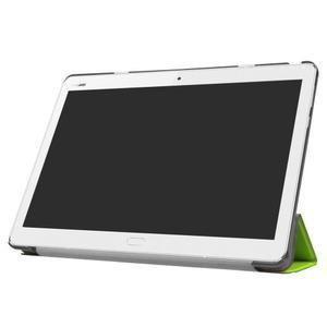 Trifold polohovatelné PU kožené pouzdro na Huawei MediaPad M3 Lite 10 - zelené - 3