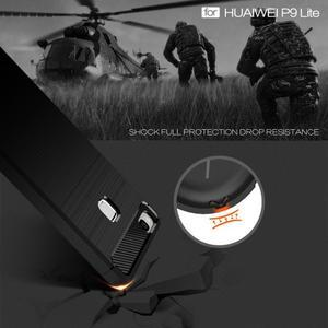 Carbo odolný gelový obal s broušenými zády na Huawei P9 Lite - tmavěmodrý - 3