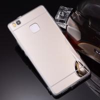 Zrcadlový gelový obal na Huawei P9 Lite - stříbrný - 3/3
