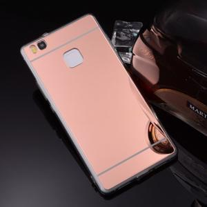 Zrcadlový gelový obal na Huawei P9 Lite - rosegold - 3