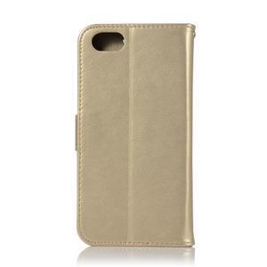 Dream PU kožené peněženkové pouzdro na mobil Huawei Y5 (2018) - zlaté - 3
