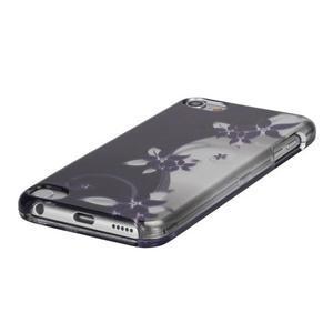 Safety plastové pouzdro 2v1 na iPod Touch 5 - fialové květy - 3