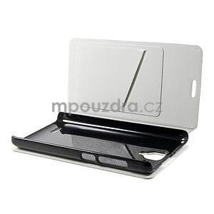 Peněženkové PU kožené pouzdro na Lenovo A536 - bílé - 3