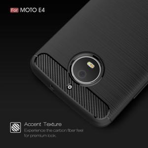 Carbon odolný obal pro Lenovo Moto E4 - černý - 3