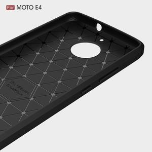 Carbon odolný obal pro Lenovo Moto E4 - červený - 3