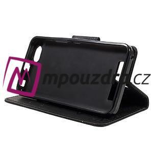 Butterfly knížkové pouzdro na mobil Lenovo Vibe C A2020 - černé - 3