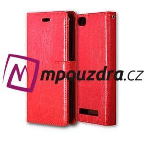Fashion PU kožené pouzdro na mobil Lenovo Vibe C A2020 - červené - 3