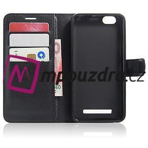 Grain peněženkové pouzdro na mobil Lenovo Vibe C A2020 - černé - 3