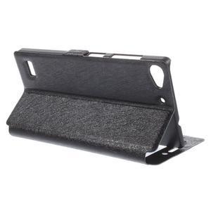 PU kožený obal s okýnky na Lenovo Vibe X2 - černý - 3