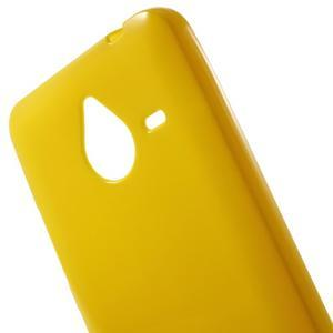 Žlutý gelový obal pro Microsoft Lumia 640 XL - 3
