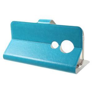 Horse PU kožené pouzdro na mobil Motorola Moto G6 Play - modré - 3