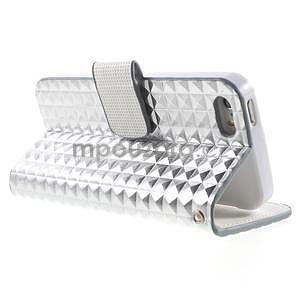 Cool Style pouzdro na iPhone 5 a iPhone 5s - stříbrné - 3