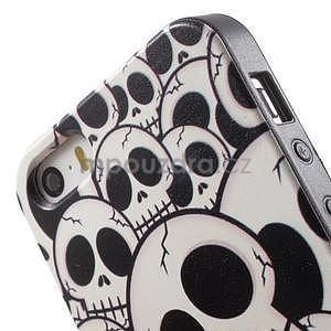Gelové pouzdro na iPhone 5 a 5s - lebky - 3