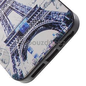 Gelové pouzdro na iPhone 5 a 5s - Eiffelova věž a motýlci - 3