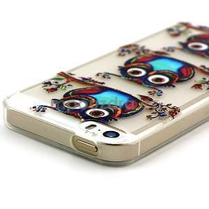 Fun gelový obal na iPhone 5s a iPhone 5 - sova - 3