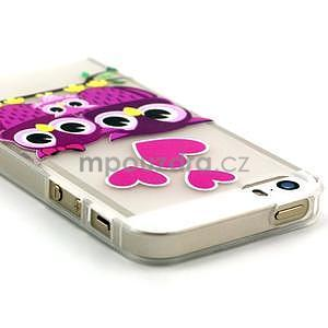 Fun gelový obal na iPhone 5s a iPhone 5 - soví rodinka - 3