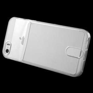 Ultra tenký obal s kapsičkou pro iPhone 5 a 5s - transparentní - 3