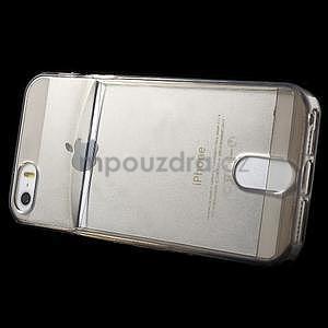 Ultra tenký obal s kapsičkou pro iPhone 5 a 5s - šedý - 3