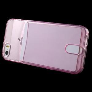 Ultra tenký obal s kapsičkou pro iPhone 5 a 5s - rose - 3